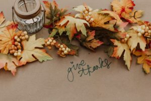 Give Thanks seasonal tablescape